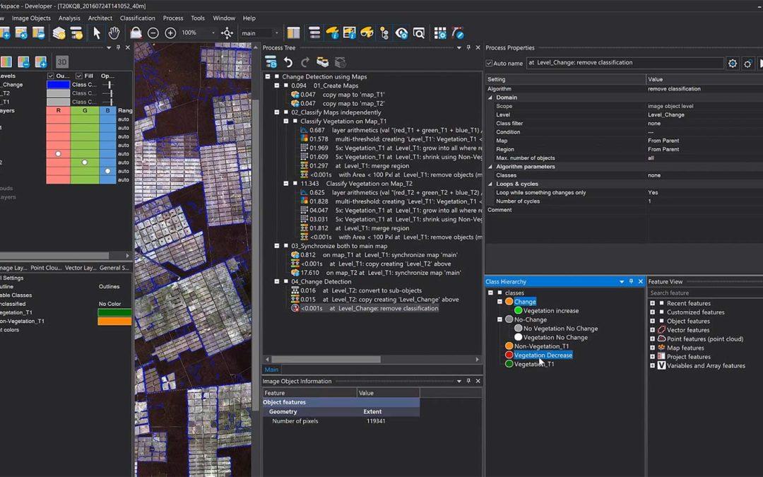 Change detection using maps